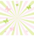 Abstract Spring Butterfly Background vector image vector image