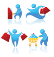 shopping abstract people vector image