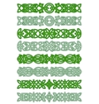 Green celtic ornament elements vector image vector image