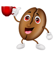 Coffee cartoon character with a coffee cup vector image vector image