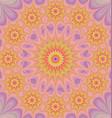 Colorful star mandala fractal background vector image