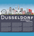 dusseldorf skyline with gray buildings blue sky vector image vector image
