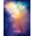 Colorful vibrant abstract Bokeh Background vector image