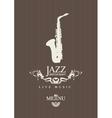 jazz restaurant vector image