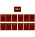 2012 frames calendar vector image