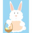 Bunny with basket vector image vector image