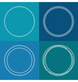 Round abstract chain frame set Outline effect Blue vector image