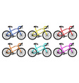 bike rounded group vector image
