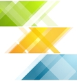 Minimal tech geometric banners vector image vector image