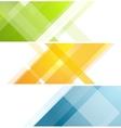 Minimal tech geometric banners vector image