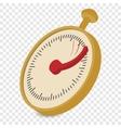 Analog stopwatch cartoon vector image