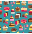 Seamless pattern with sweet dessert objects vector image