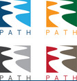 Abstract path or river labels set vector image