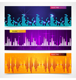 Audio Equalizer Banners Set vector image
