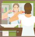 Brushing Teeth Design vector image