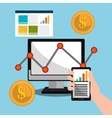 Business profit and sales vector image