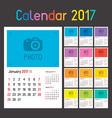 Calendar Planner for 2017 vector image
