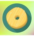 Donut flat icon Doughnut pictogram vector image