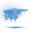 Eurasia map background vector image