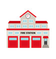 fire station flat colorful building icon vector image