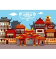 Happy Chinese New Year greeting card design vector image