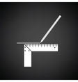 Pencil line with scale icon vector image