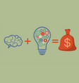 profit and investment concept brains plus good vector image