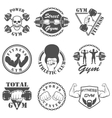 Vintage Weight Lifting Label and Sticker vector image