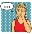 Young woman lady with palm on her face Comics vector image