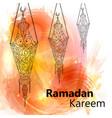 Ramadan kareem and ramadan mubarak vector image