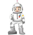 happy boy in spacesuit vector image