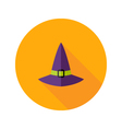 Halloween Witch Hat Flat Icon vector image