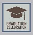 Flat Design Graduation Celebration vector image