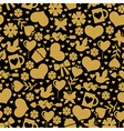 valentine day seaml gold vector image vector image