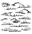 Sketch of clouds vector image vector image
