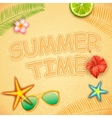 Summer Time poster design vector image vector image