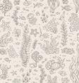 Seamless vintage underwater pattern vector image