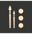 Flat in black and white mobile application paint vector image