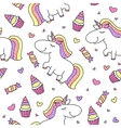 baby seamless pattern with unicorns vector image
