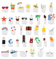beach stuff icon set vector image