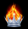 Burning crown vector image