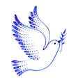 decorative ornament dove peace vector image