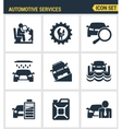 Icons set premium quality of automotive services vector image