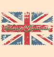 merry christmas lettering on a grunge board vector image