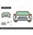 sedan car line icon vector image
