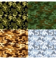 Set of military camouflage seamless patterns vector image