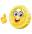 thumb up coin vector image