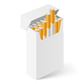 White Pack of cigarettes vector image vector image