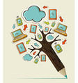 Mobile communication concept tree vector image