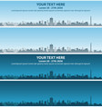 houston skyline event banner vector image vector image